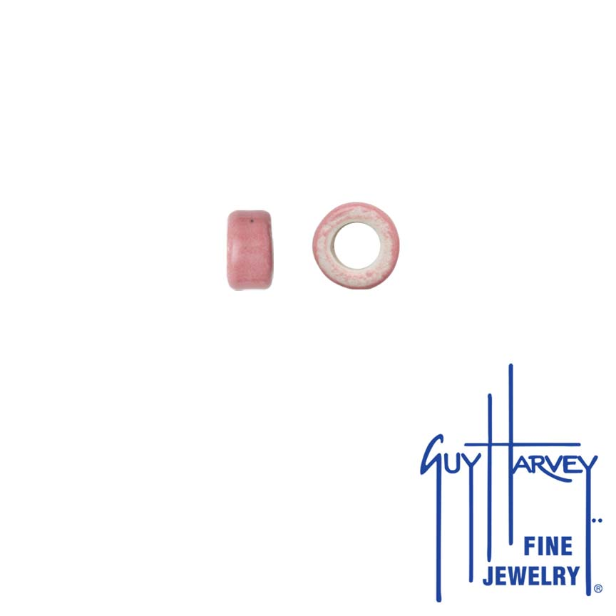 Two Pink Trophy Slide Clay Accent Beads