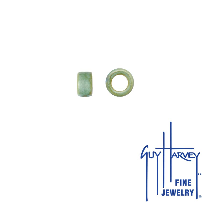 Two Light Green Trophy Slide Clay Accent Beads