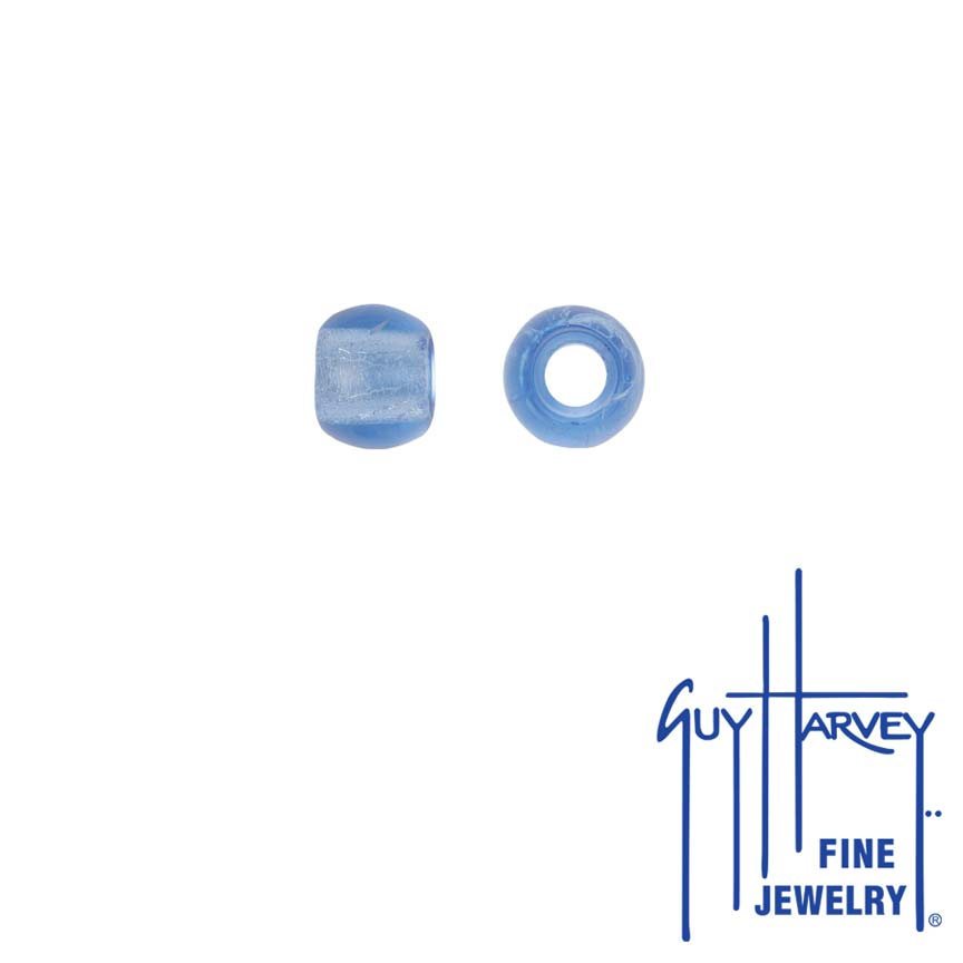 Two Light Blue Sapphire Trophy Slide Glass Accent Beads