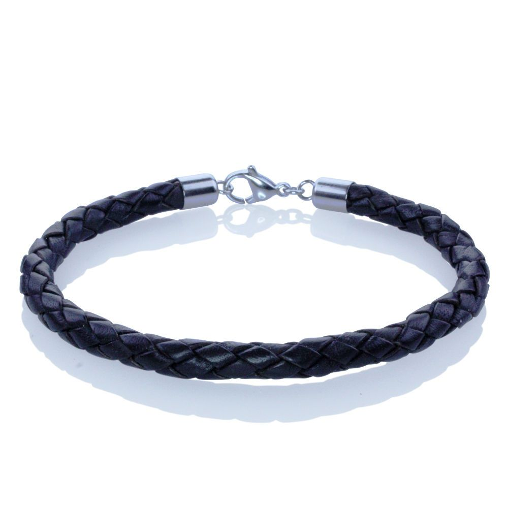 Braided Leather Bracelet in Your Choice of Colors