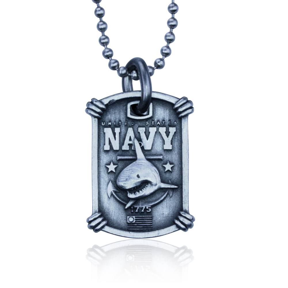 US Navy Necklace Guy Harvey. Complete with Stainless Steel Bead Chain
