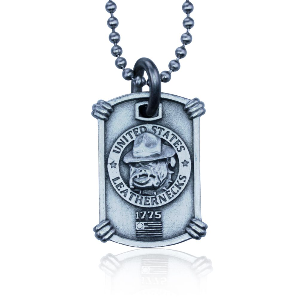 US Marines Necklace by Guy Harvey. Complete with Stainless Steel Bead Chain