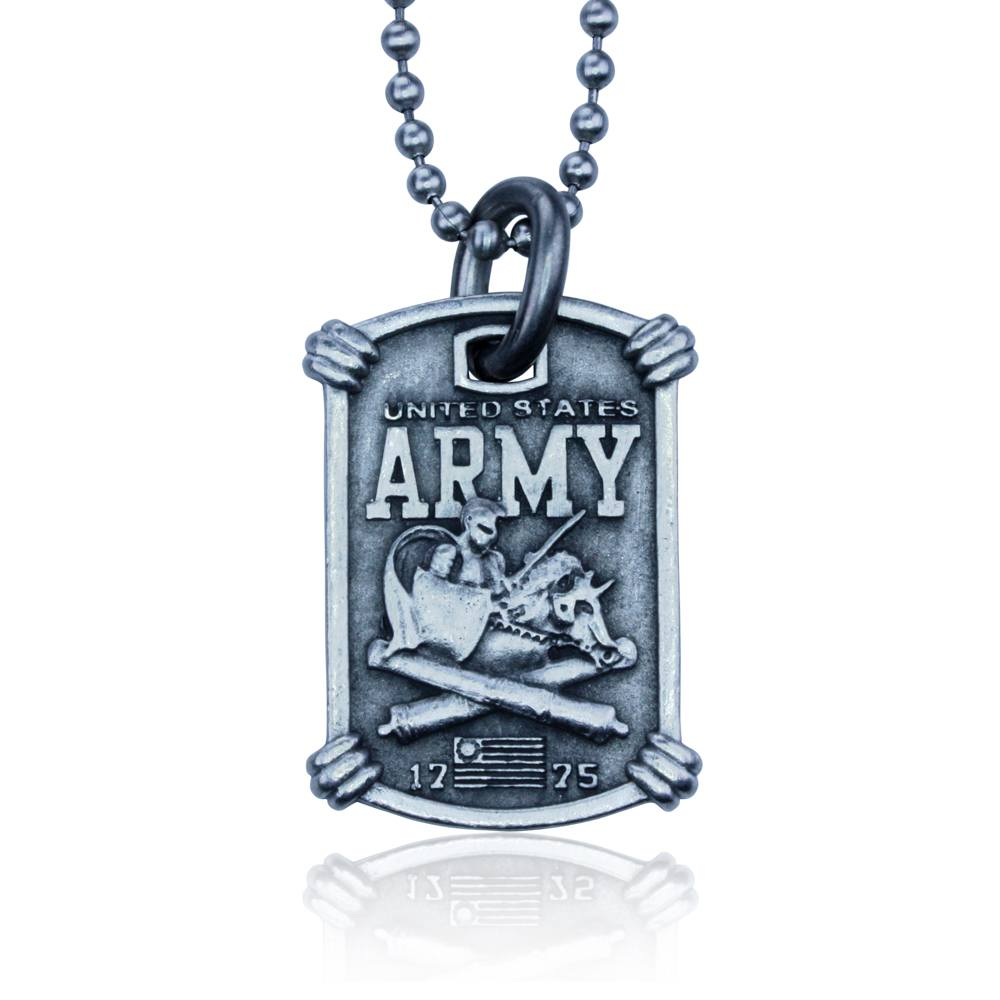 US Army Necklace by Guy Harvey. Complete with Stainless Steel Bead Chain