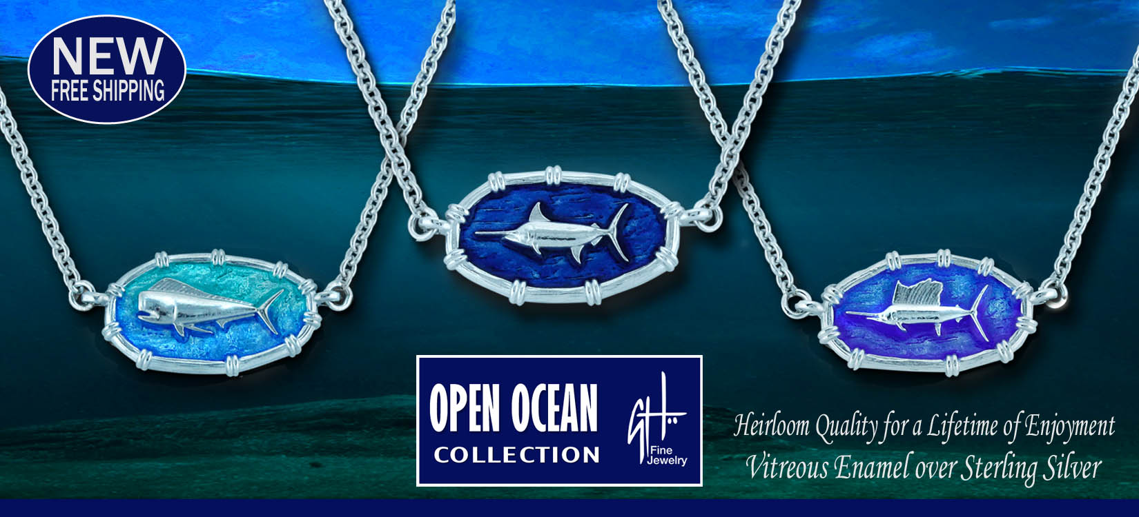 * CRABs Blue ~ Gold /& Silver * FREE Chain FREE Ship * Made in The USA