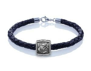 Guy Harvey Marlin Trophy Slide Leather Bracelet