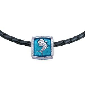 Guy Harvey  Enameled Dolphin Trophy Slide Necklace