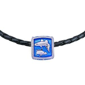 Guy Harvey  Enameled Redfish & Trout Trophy Slide Necklace