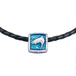 Guy Harvey  Enameled Tarpon Trophy Slide Necklace