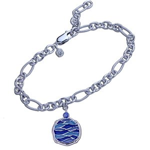 Guy Harvey Changing Tides Charm Bracelet in Hard Fired Enamel and Sterling Silver