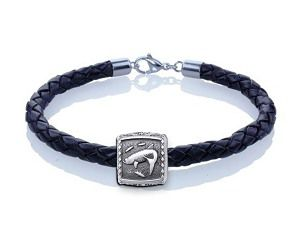 Guy Harvey Tarpon Trophy Slide Leather Bracelet