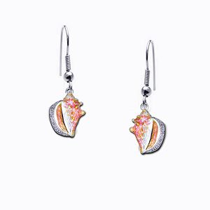 Guy Harvey Petite Conch Shell Dangle Earrings