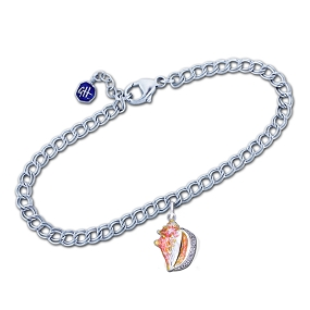 Guy Harvey - Conch Shell Bracelet Sterling Silver and Enamel