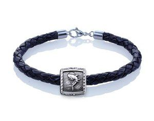 Guy Harvey Dolphin Trophy Slide Leather Bracelet