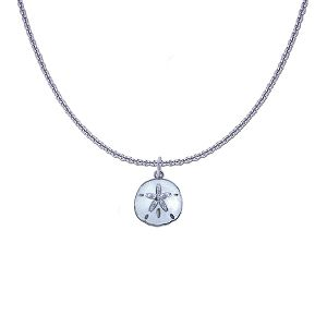 Guy Harvey Petite Sand Dollar on a Sterling Silver Link Chain