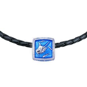 Guy Harvey  Enameled Marlin Trophy Slide Necklace
