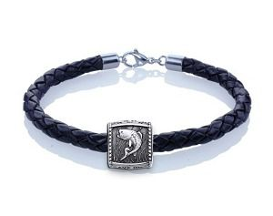 Guy Harvey Bass Trophy Slide Leather Bracelet