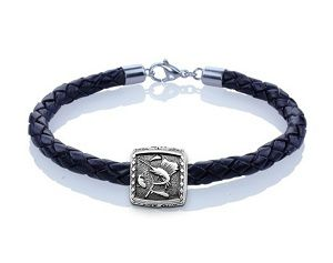 Guy Harvey Sailfish Trophy Slide Leather Bracelet