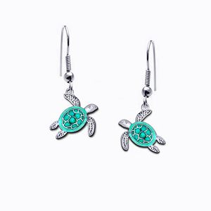 Guy Harvey Petite Sea Turtle Dangle Earrings