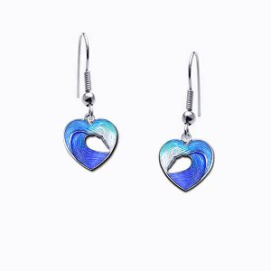 Guy Harvey Petite Heart of the Sea Wave Earrings