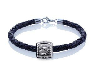 Guy Harvey Tuna Trophy Slide Leather Bracelet