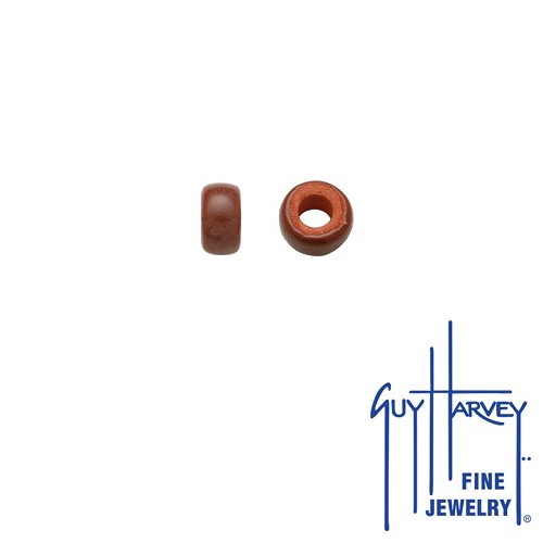 Two Brown Trophy Slide Clay Accent Beads