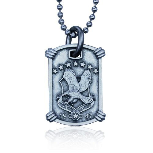 US Air Force Necklace by Guy Harvey. Complete with Stainless Steel Bead Chain