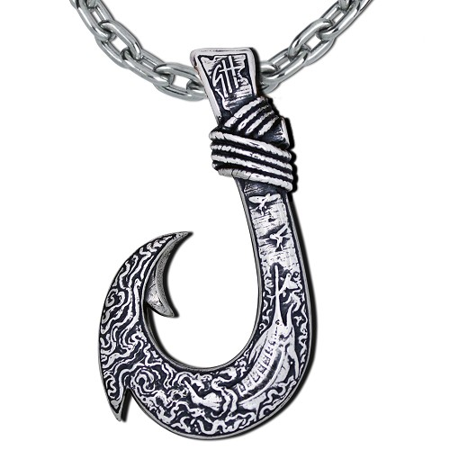 Fishhook Necklace - Large Big Game Circle Hook by Guy Harvey