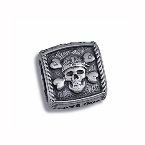 Guy Harvey Pirate Trophy Slide Relic Finish Sterling Silver