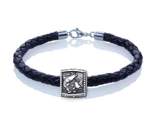 Guy Harvey Snook Trophy Slide Leather Bracelet